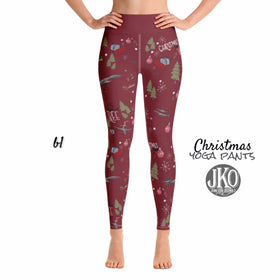 2018 Christmas Yoga Pants- B1 RED