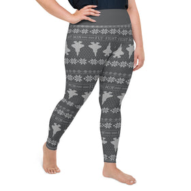 F-35 Cross Stitch Yoga Pants [ Plus Size- 3 colors avail. ] (2019 Design)