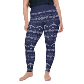 B-52 Cross Stitch Yoga Pants [ Plus Size- 3 colors avail. ] (2019 Design)