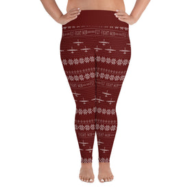 MQ-9 Cross Stitch Yoga Pants [ Plus Size] (2019 Design)
