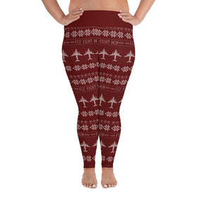 C-17 Cross Stitch Yoga Pants [ Plus Size] (2019 Design)