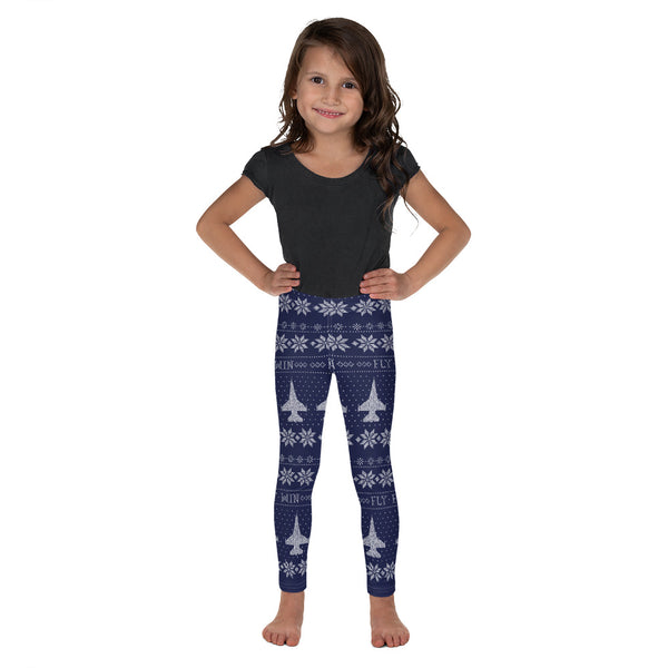 F-16 Cross Stitch Toddler & Youth  Leggings -2019 Design [3 colors avail]