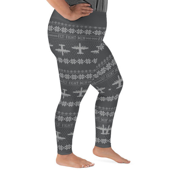 AC-130w Cross Stitch Yoga Pants [ Plus Size] (2019 Design)