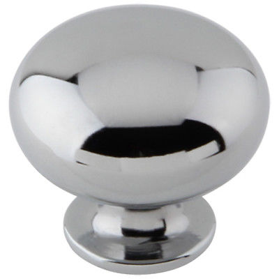 "Silverline K2180 Chrome Knob Mushroom Diameter: 1-3/16"" Cabinet Hardware - amerfithardware"