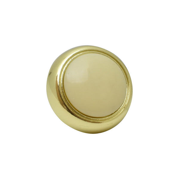 "Silverline K2015 Button Creme Knob Diameter: 1-3/16"" Cabinet Hardware - amerfithardware"
