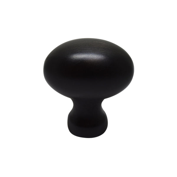 "Silverline K2016 Cabinet Hardware Knob 1 - 1/4"" Oil Rubbed Bronze Oval Football - amerfithardware"