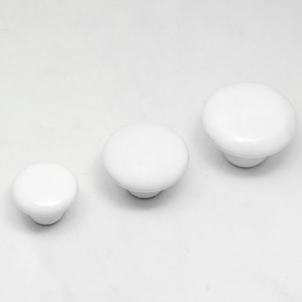"White Ceramic Knobs Cabinet Hardware (38-25mm ~1.5-1"") - amerfithardware"