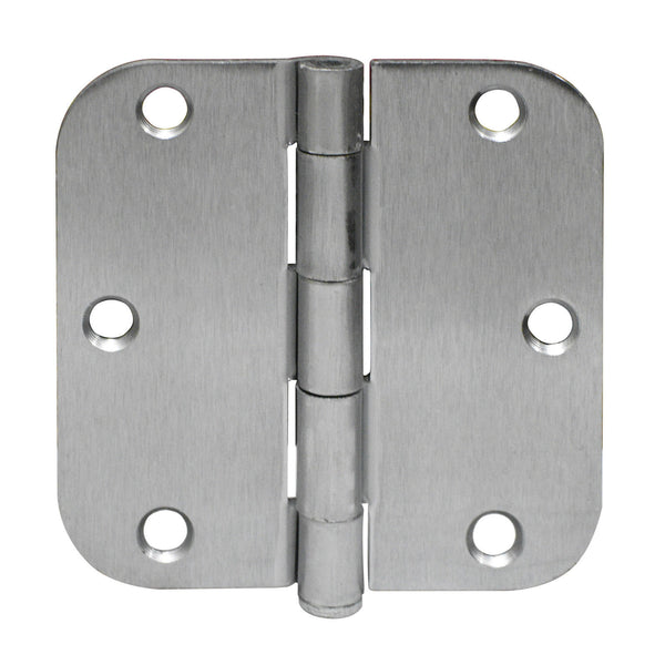 "3.5"" x 3.5"" Door Hinges Plain Bearing 5/8"" Radius Corners Mortise - amerfithardware"