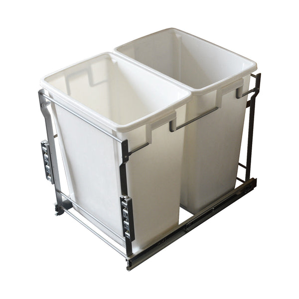 Pull Out Trash Cans - Kitchen Cabinet Organizer Pullout In-Cabinet 20 Qt Bins - amerfithardware