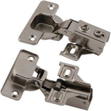 1/2 Half & 3/4 Three Quarters - Cabinet Hinges w Plate Face Frame - Soft Close Piston Compact - amerfithardware