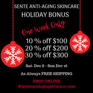 SENTE Anti-Aging Skincare Holiday Bonus Offer