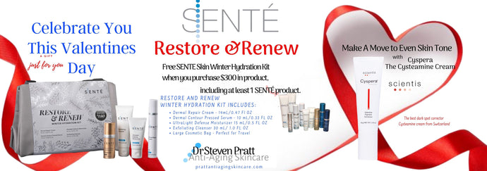 Restore and Renew Your Skin | SENTE Skin Winter Hydration Kit with Cosmetic Bag