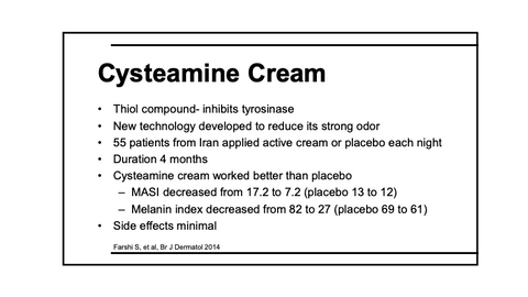 what is cysteamine HCI cream
