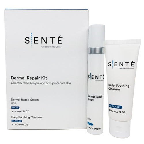 SENTE Dermal Repair 2 Piece Kit - Luxury Travel Size Skin Care