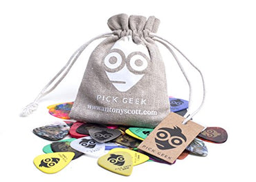 Pick Geek Guitar Picks, 51 Cool Custom Picks (Plectrums) For Your Electric, Acoustic, or Bass Guitar - Medium, Heavy, Thin, (Light)