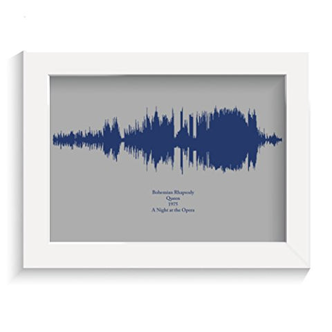 Personalised favourite song soundwave music lovers gift print any colour