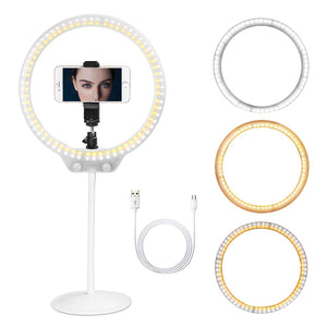 Selfie Ring Light With Mobile Phone Holder And Tripod Stand