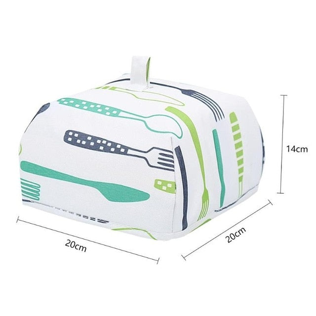 Folded Aluminum Foil Food Cover Insulated Anti Fly Mosquito Cover