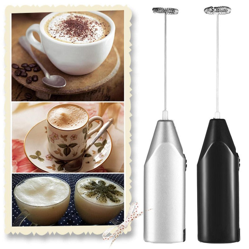1pc Egg Beater Milk Coffee Electric Whisk Mixer Tool