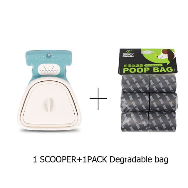 Portable Pet Pooper Scooper With Disposable Bag