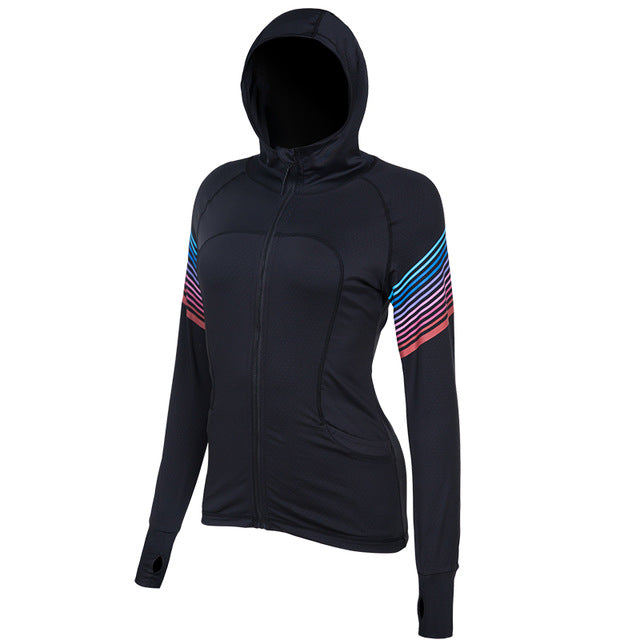 Women's Workout Yoga Jacket Full Zip Running Track Jacket