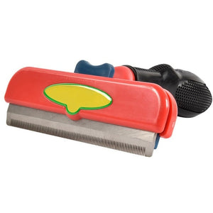 Grraple Stainless Steel Pet Grooming Comb And Deshedding Tool For Short And Large Hair Pets