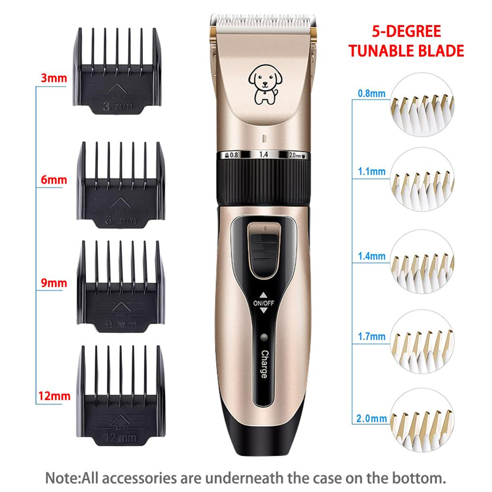 Combing Kit, Cordless Rechargeable Silent Pet Razor and Clipper With Scissors For Pets