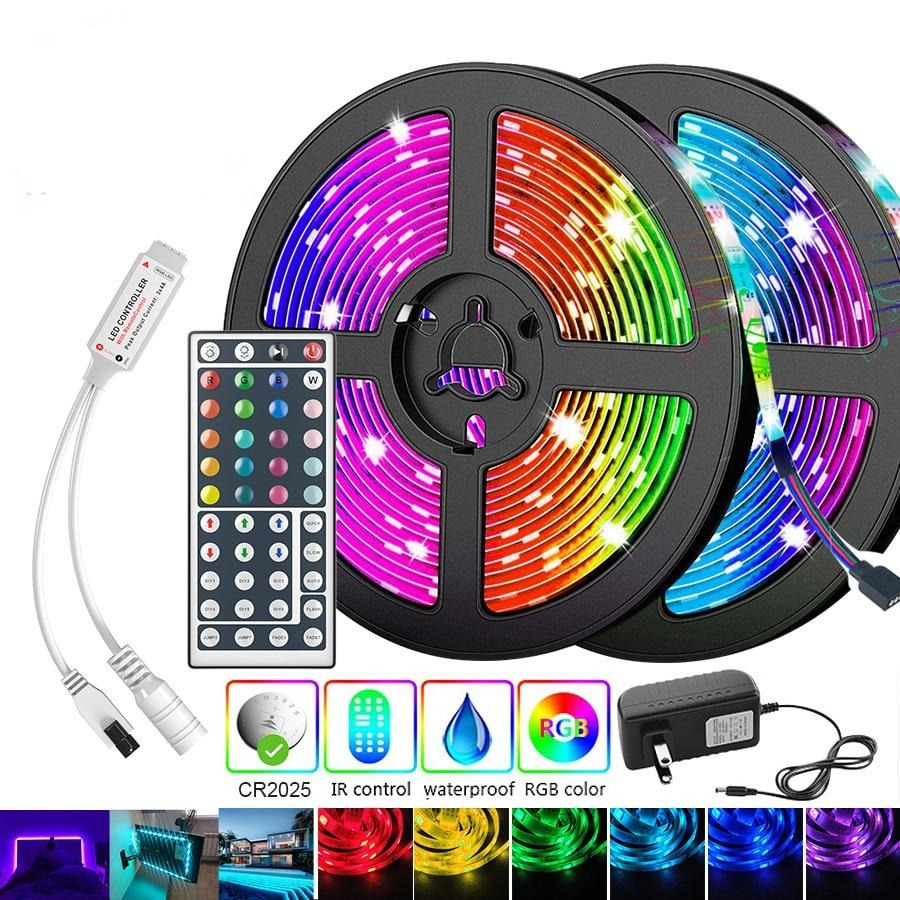 LED Strip RGB With 24Key Remote and IR Controller Adapter