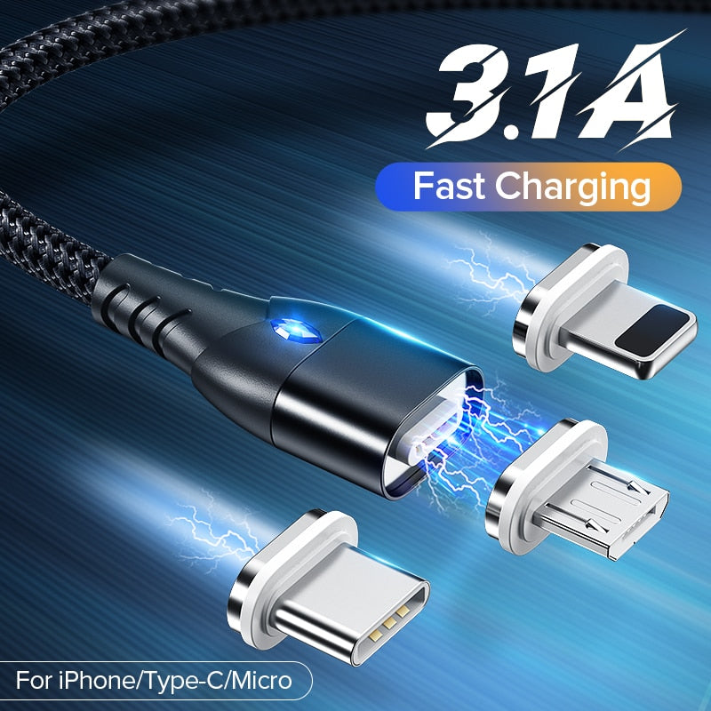 Magnetic Charging Data Cable with 3.1A fast charging