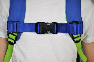 This chest strap accessory works with our feeding tube backpacks