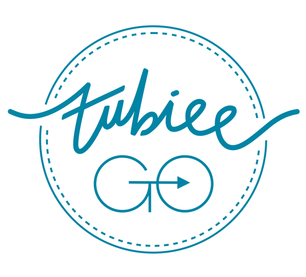 The TubieeGo logo: The home of feeding tube bags