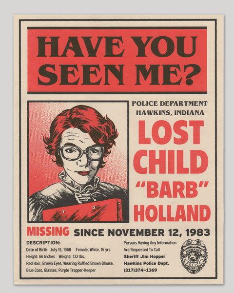 Stranger Things Missing Barb Poster