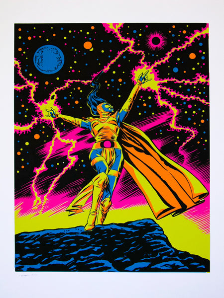 The Bride of Mars Arclight Blacklight Print