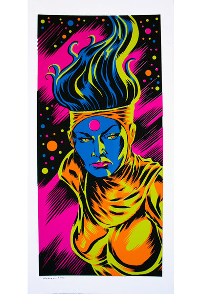 The Bride of Mars Headshot Blacklight Poster