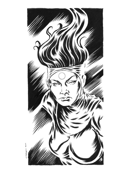 Bride of Mars Headshot original illustration