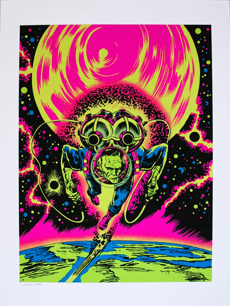 Frankenaut Jet Pack Blacklight Poster