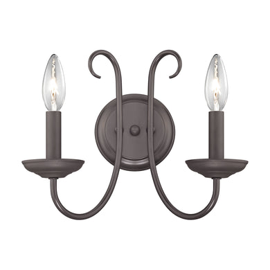 Thomas Williamsport 2 Light Wall Sconce In Oil Rubbed Bronze