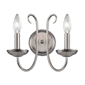 Thomas Williamsport 2 Light Wall Sconce In Brushed Nickel