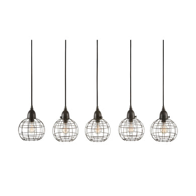 Dimond Home 5 Light Wire Ball Pendant In Brown