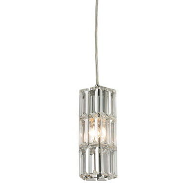 Elk Cynthia 1 Light Pendant In Polished Chrome And Clear K9 Crystal