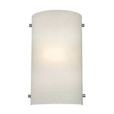 Thomas Wall Sconces 1 Light Sconce In Brushed Nickel And White Glass