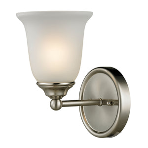 Thomas Sudbury 1 Light EEF Vanity In Brushed Nickel