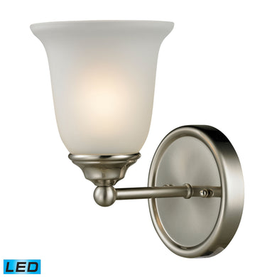 Thomas Sudbury 1 Light LED Vanity In Brushed Nickel