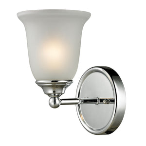 Thomas Sudbury 1 Light EEF Vanity In Chrome