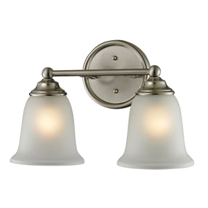 Thomas Sudbury 2 Light EEF Vanity In Brushed Nickel