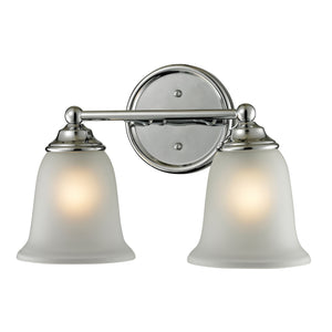 Thomas Sudbury 2 Light EEF Vanity In Chrome