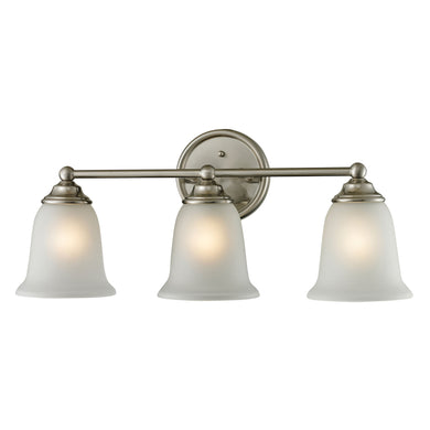 Thomas Sudbury 3 Light Vanity In Brushed Nickel