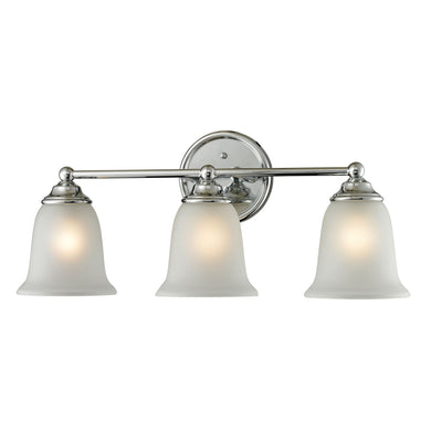 Thomas Sudbury 3 Light EEF Vanity In Chrome