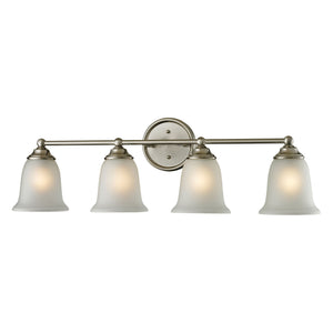 Thomas Sudbury 4 Light Vanity In Brushed Nickel