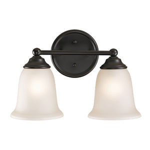 Thomas Sudbury 2 Light Vanity In Oil Rubbed Bronze